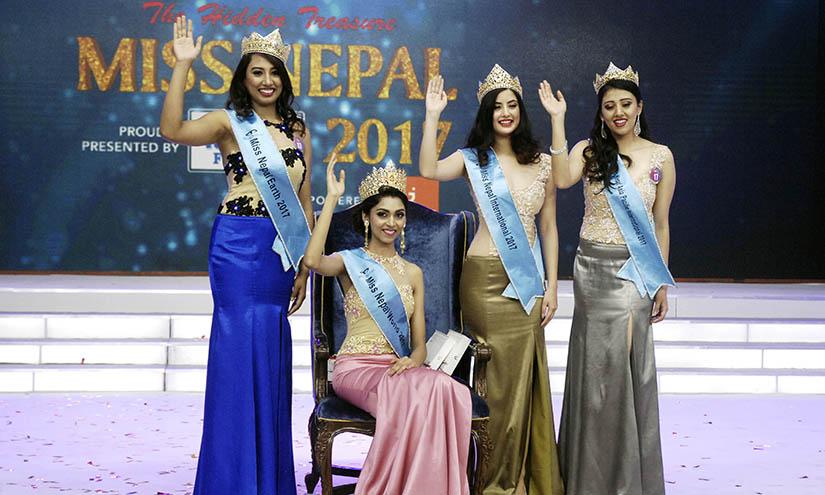 मिस नेपाल  २०१७को उपाधि 'नीकिता चन्दक' लाई